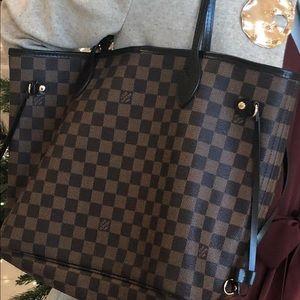💯 Authentic Louis Vuitton Damier Ebene NF MM